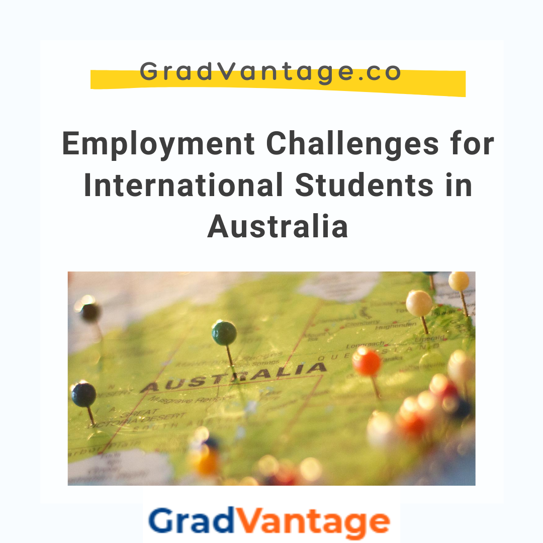 Employment Challenges for International Students in Australia